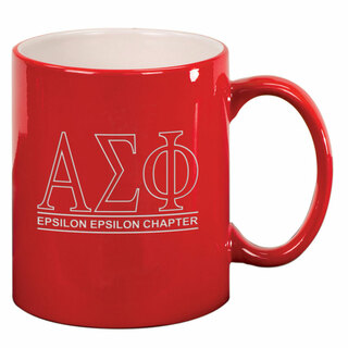 Alpha Sigma Phi Custom Ceramic Coffee Mug