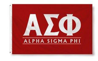 Alpha Sigma Phi Custom Line Flag