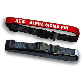 Alpha Sigma Phi Dog Collar