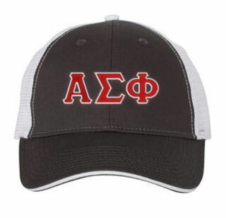 Alpha Sigma Phi Double Greek Trucker Cap