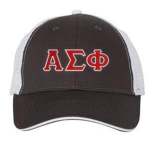 Alpha Sigma Phi Double Greek Trucker Cap