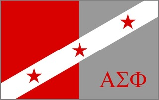 Alpha Sigma Phi Flag Decal Sticker