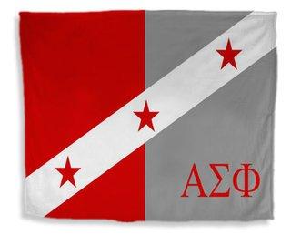 Alpha Sigma Phi Flag Giant Velveteen Blanket