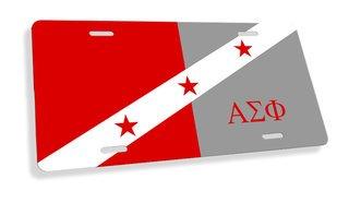 Alpha Sigma Phi Flag License Cover