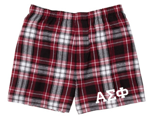 Alpha Sigma Phi Flannel Boxer Shorts