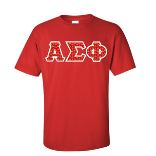 Alpha Sigma Phi Fraternity Crest - Shield Twill Letter Tee