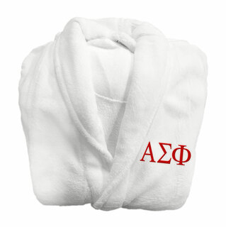 Alpha Sigma Phi Fraternity Lettered Bathrobe