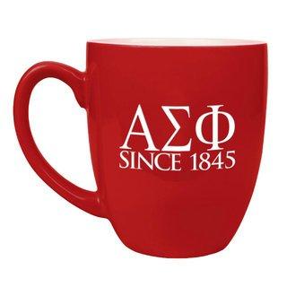 Alpha Sigma Phi Greek Bistro Mug