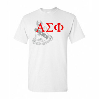 Alpha Sigma Phi Greek Crest - Shield T-Shirt