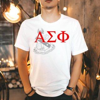 Alpha Sigma Phi Greek Crest - Shield T-Shirt