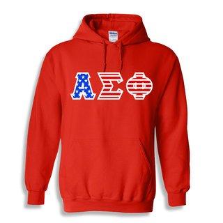 Alpha Sigma Phi Greek Letter American Flag Hoodie