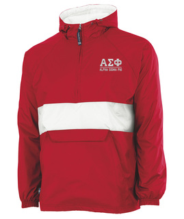Alpha Sigma Phi Flag Patch Quarter Zip Pullover