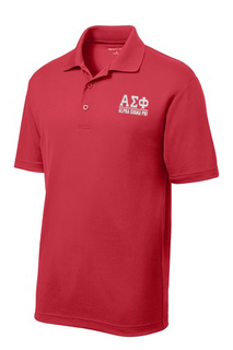 Alpha Sigma Phi Greek Letter Polo's