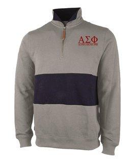 Alpha Sigma Phi Greek Letter Quad Pullover