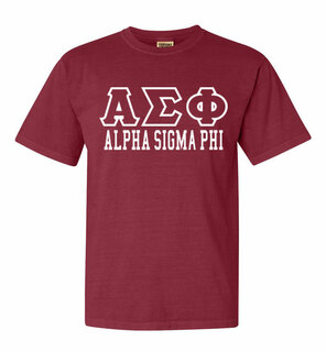 Alpha Sigma Phi Greek Outline Comfort Colors Heavyweight T-Shirt