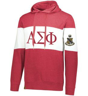 Alpha Sigma Phi Ivy League Hoodie W Crest On Left Sleeve