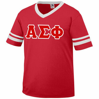 DISCOUNT-Alpha Sigma Phi Jersey With Greek Applique Letters