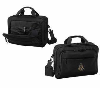 DISCOUNT-Alpha Sigma Phi Crest - Shield Briefcase Attache