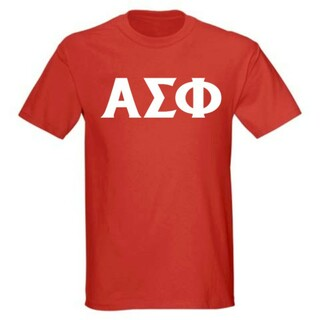 Alpha Sigma Phi letter tee