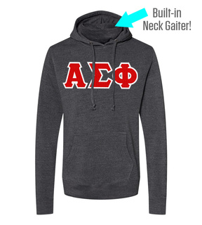 Alpha Sigma Phi Lettered Gaiter Fleece Hooded Sweatshirt