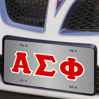 Alpha Sigma Phi Lettered License Cover