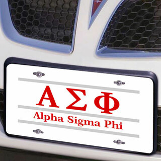 Alpha Sigma Phi Lettered Lines License Cover