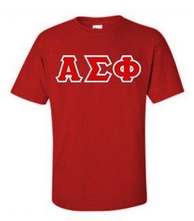 Alpha Sigma Phi Lettered T-Shirt