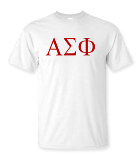 Alpha Sigma Phi Lettered Tee - $9.95!