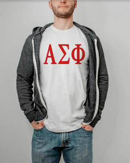 Alpha Sigma Phi Lettered Tee - $14.95!