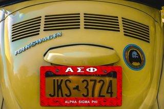 Alpha Sigma Phi License Plate Frame