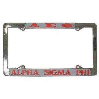 Alpha Sigma Phi License Plate Frame