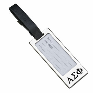 Alpha Sigma Phi Luggage Tag With Identification Window