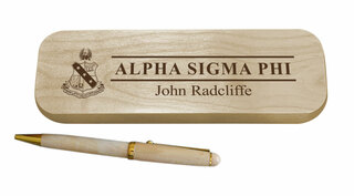 Alpha Sigma Phi Maple Wood Pen Set