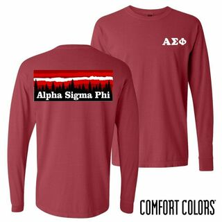 Alpha Sigma Phi Outdoor Long Sleeve T-shirt - Comfort Colors