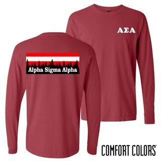 Alpha Sigma Phi Outdoor Long Sleeve T-shirt - Comfort Colors