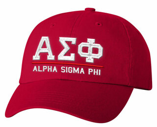Alpha Sigma Phi Old School Greek Letter Hat