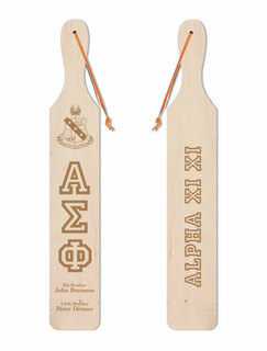 Alpha Sigma Phi Old School Wood Greek Paddle