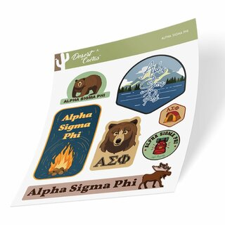 Alpha Sigma Phi Outdoor Sticker Sheet