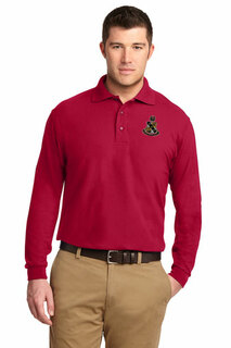 DISCOUNT-Alpha Sigma Phi Emblem Long Sleeve Polo