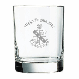 Alpha Sigma Phi Old Style Glass