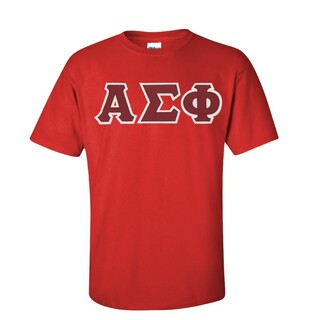 Alpha Sigma Phi Sewn Lettered T-shirt - SPECIAL SALE!