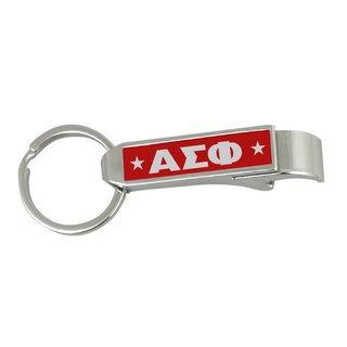 Alpha Sigma Phi Stainless Steel Bottle Opener Key Chain