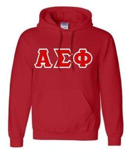 Alpha Sigma Phi Sewn Lettered Sweatshirts