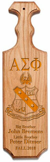 Alpha Sigma Phi Traditional Greek Paddle