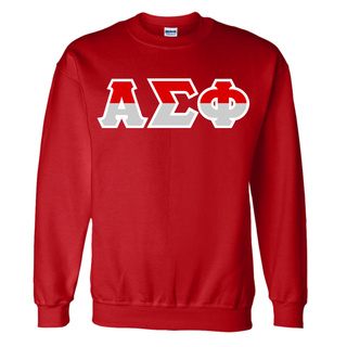 Alpha Sigma Phi Two Tone Greek Lettered Crewneck Sweatshirt