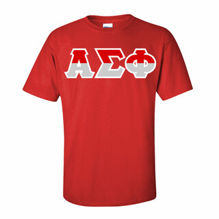 Alpha Sigma Phi Two Tone Greek Lettered T-Shirt