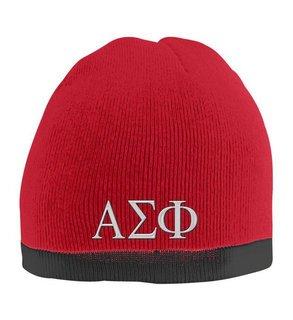 Alpha Sigma Phi Two Tone Knit Beanie