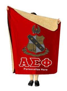 Alpha Sigma Phi Two Tone Sherpa Lap Blanket