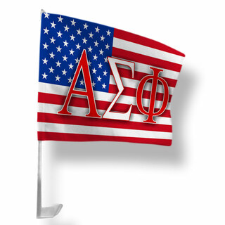 Alpha Sigma Phi USA Car Flag