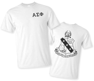 Alpha Sigma Phi World Famous Crest - Shield Tee